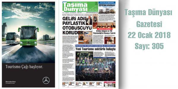 Taşıma Dünyası Gazetesi 305 PDF 22 Ocak 2018