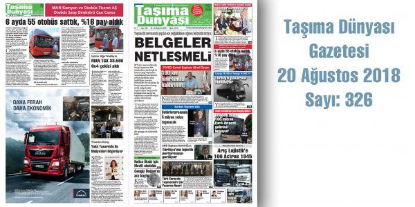 Taşıma Dünyası Gazetesi_326 PDF 20 Ağustos 2018