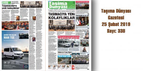 Taşıma Dünyası Gazetesi_338 PDF 25 Şubat 2019