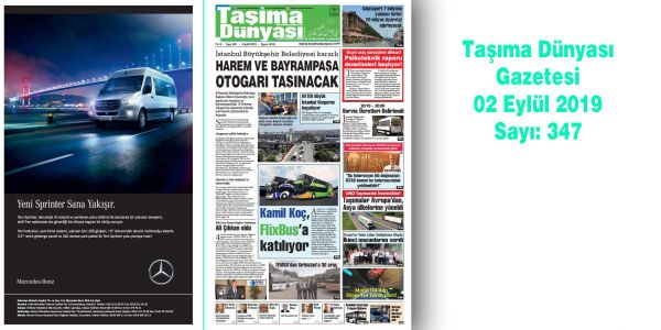 Taşıma Dünyası Gazetesi 347 PDF 2 Eylül 2019