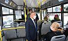 Başkan otobüse bindi, yolculara çağrıda bulundu