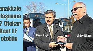 Çanakkale'ye 17 Otokar Kent LF otobüs
