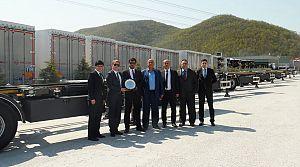Ergünler Nakliyat 20 Tırsan konteyner taşıyıcı teslim aldı