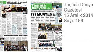 Taşıma Dünyası Gazetesi_166 PDF 15 Aralık 2014