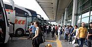 33 bin otobüs giriş çıkış yaptı