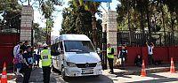 Antalya'da servis araçlarına tahdit...