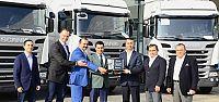 Scania'dan Önder Canbek'e 11 İnşaat Kamyonu