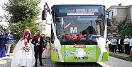Tanıştıkları otobüs, düğün araçları