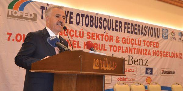 TOFED Kongresinde Bakan Arslan konuştu: 3. Köprüye devam