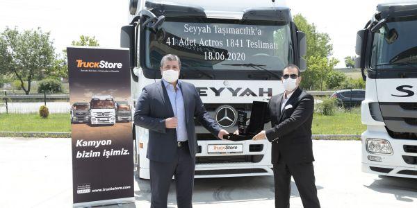 TruckStore, Seyyah Taşımacılık'a 41 Actros teslim etti