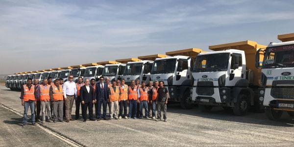 Tunacan İnşaat, İstanbul-İzmir Otoyolu inşaatı için Ford Trucks aldı