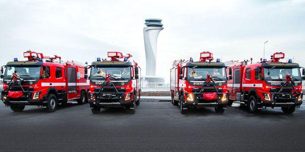 Volvo Trucks'tan İstanbul Havalimanı'na itfaiye kamyonu