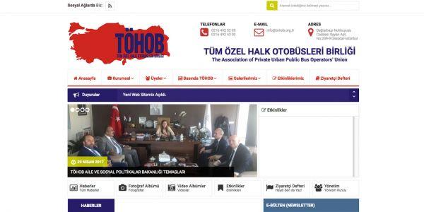 www.tohob.org.tr yayına girdi.