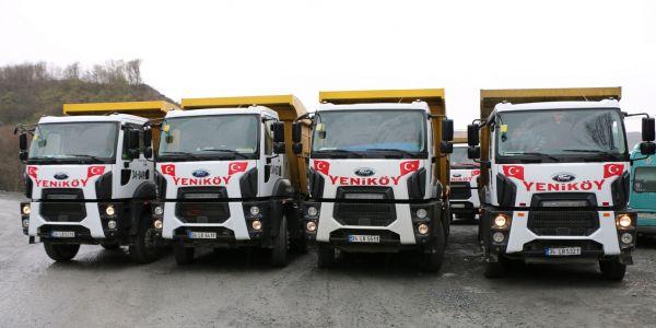 Yeniköy Hafriyat, 15 Ford Trucks ile filosunu güçlendirdi