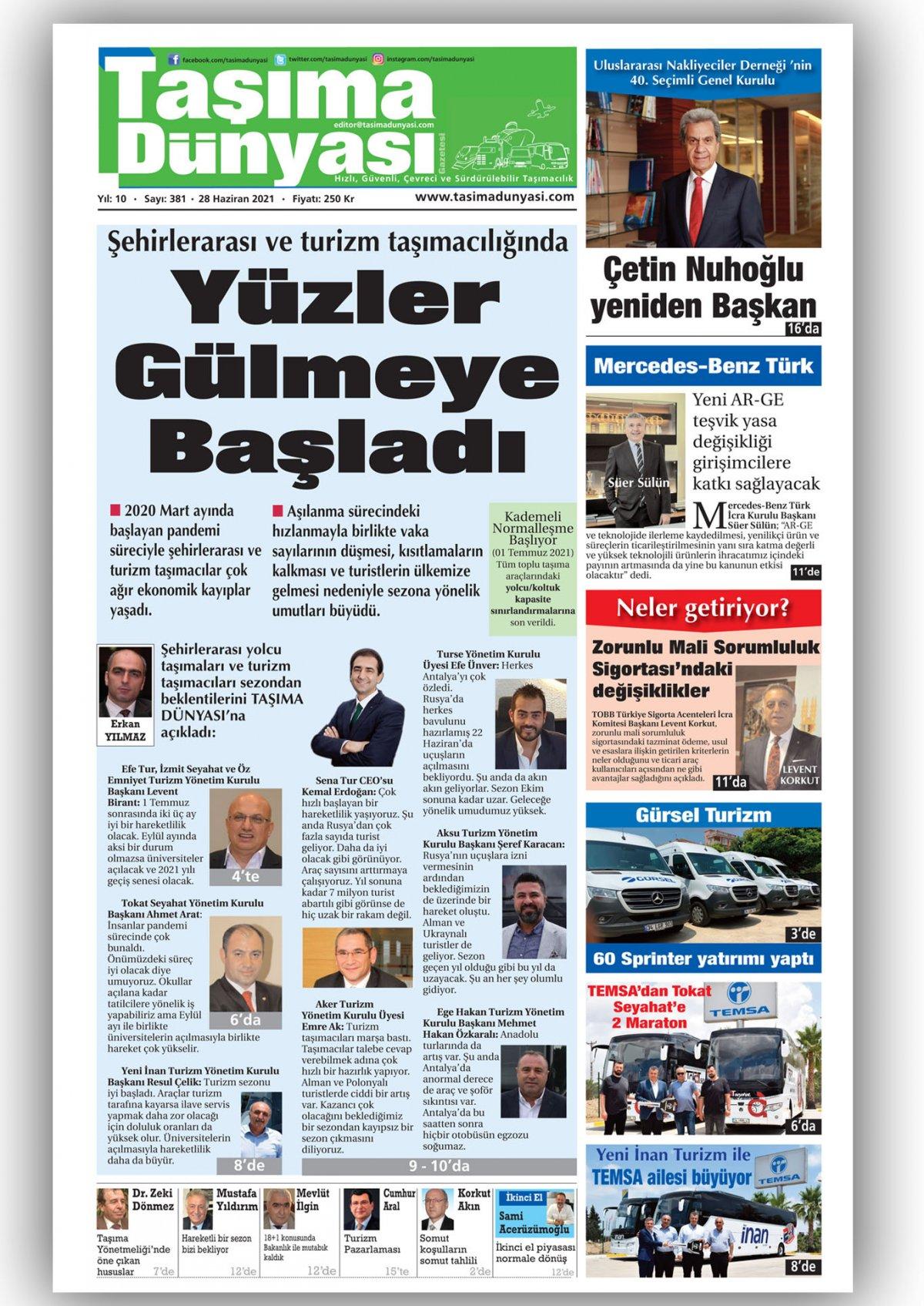 Taşıma Dünyası Gazetesi - 28.06.2021 Manşeti